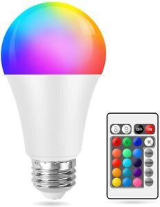 E27 RGB Led Bulb Light Lights 10W 12 Colour Changing Remote Control Screw Lamp