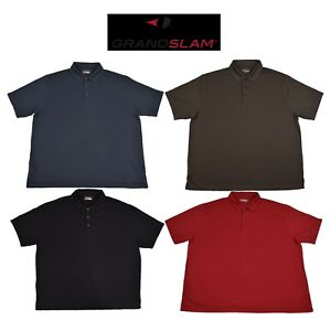 Big Man's Grand Slam Performance Striped Golf Polo in 4 Colors Size 3x, 3XLT, 4X