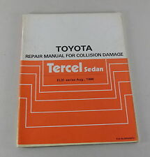 Workshop Manual Toyota Tercel Sedan body repair manual Stand 08/1986