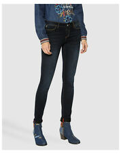 Blu W32 Desigual Second Skin Skinny Jeans Donna (black Denim 5009) (16l)