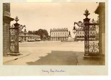 France, Nancy, Place Stanislas  Vintage albumen print.  Tirage albuminé  13x