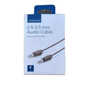 Insignia 3ft 3.5mm Audio Cable Universal Slim Profile 18IO7H AUX
