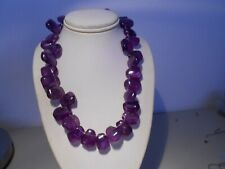 amethyst chock necklace/ silver clasp