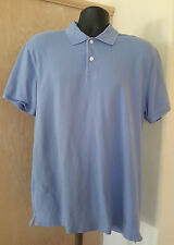 G.H. Bass Men's Short Sleeve Blue Knit Polo Shirt Size Large