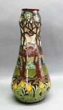 Museum-Quality Original FRANZ ANTON MEHLEM Royal Bonn Art Nouveau Pottery Vase