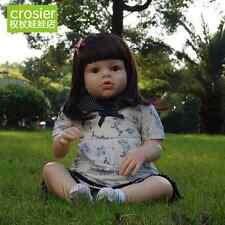 28''Handmade Baby Toddler Girl Doll Lifelike Silicone Soft Reborn Newborn toys i