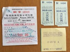 1981 Hong Kong bus and ferry tickets