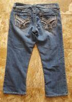 hydraulic jean capri size 6  womens medium wash mid rise
