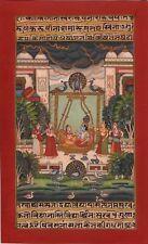 Bundi Painting Handmade Indian Miniature Krishna Radha Rajasthani Folk Art