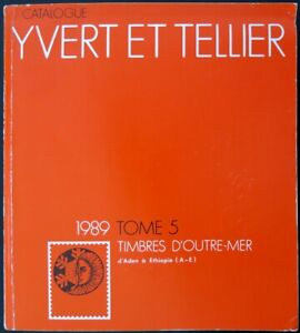 YTOM1989 - CATALOGUE TIMBRES D'OUTRE-MER tome 5 - Yvert&Tellier 1989 - occasion