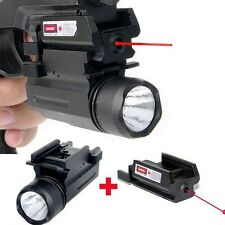 Tactical Red Dot Laser Sight with LED Flashlight Combo Hunting Laser for Pistol