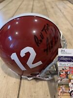 Nick Saban Autographed/Signed Mini Helmet JSA COA Alabama Crimson Tide