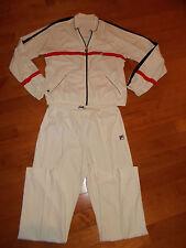 VTG-1980s 70s Soft Fila Bjorn Borg Tennis Sweatsuit Track Jacket Pants M/L