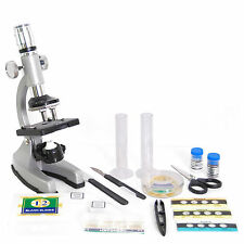 GMPZ-C1200 Microscopio in Metallo 1200x Set Didattico con Accessori