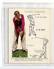 (Jc6451-100)  PLAYERS,GOLF,A.G.BECK,NO 4 IRON SHOT,1939,#3