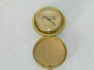 YIELD CASE MINI ROUND POCKET ALARM CLOCK # 9 ( WORKING CONDITION ) VINTAGE !