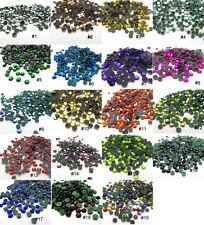 Free shipping 800pcs 3MM Round Iron On Hotfix Crystal Rhinestones 19bags mixed