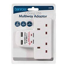 Doppio Banda Elettrico Spina Presa A Muro Adattatore 2 USB sbocchi Caricabatteria elettrico