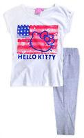 Girls Hello Kitty PJ New Kids Short Sleeved Cotton Pyjama Set 9 10 11 12 13 14 Y