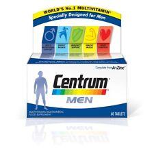 Centrum Men Multi Vitamin 60 Tablets Vitamin D C B12 Minerals Iron Folic Zinc