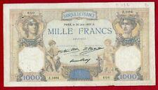 1000 FRANCS (CÉRÈS et MERCURE) 30 - 6 - 1937. D - Z.1984. 600 - J. BOYER /117