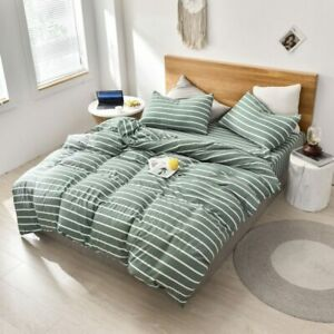 Simple Bedding Plaid Quilt Cover Stripe Comfortable Household Product Bedclothes