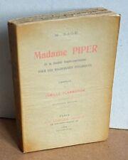 Madame Piper et la Société Anglo-Américaine pour la Recherche Psychiques M. Sage