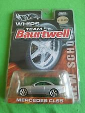 2004 Hot Wheels Whips Team Baurtwell MERCEDES CL55 Silver EXCELLENT PACKAGE