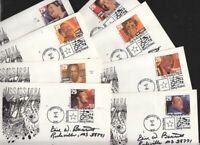 1994 Blues & Jazz Legends Sc 2854-61 FDCs signed Postmaster
