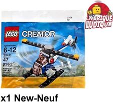 Lego - Polybag Creator helicoptère helicopter avion plane rotor 30471 NEUF