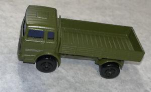 Rare Matchbox Superfast 1 Mercedes Army Green Truck Vintage!