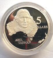 Australia 1993 Abel Tasman 5 Dollars 1.06oz Silver Coin,Proof