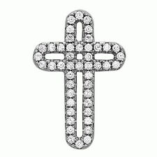 Aaa Of Cubic Zirconia Religious Jewelry .925 Sterling Silver Cross Pendant with