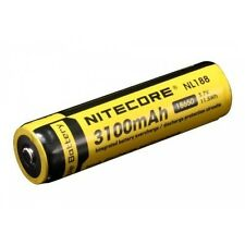 1x Nitecore Li-ion Batería 18650 - 3100mAh 3,7v - Protegido - NL188