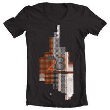"Black ""23"" Air Jordan cubism tetris skyscraper birthday illusion style T Shirt"