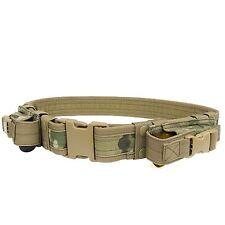 Condor Multicam TB Military Combat Pouch Duty Tactical Belt 2 Pistol Mag Pouch