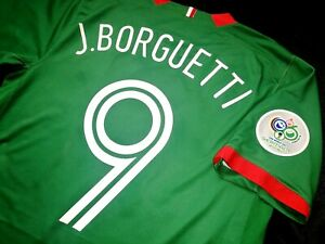 Jersey mexico jared borgetti nike 2006 (M) world cup 2006 Santos green shirt