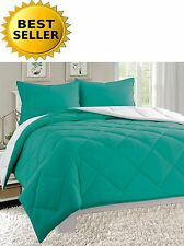 3 pc Reversible Down Alternative Comforter Set All Size and 12 Colors