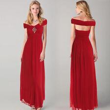 Boat Neck Full Length Formal Ballgowns for Women