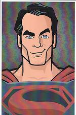 Henry Cavill SUPERMAN PRINT HAND SIGNED Jorge Baeza Animated Man of Steel