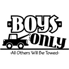 BOYS ONLY  Wall Art Decal Quote Words Lettering Decor Sticker Home