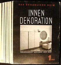 MidCentury Modern Interior Decor INNEN DEKORATION Das Behagliche Heim 1937 VG