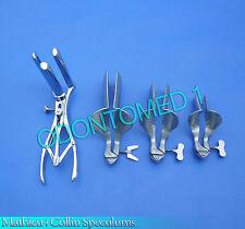 3 Collin Vaginal Speculum & 3 Prong Mathieu Anal Speculum Gynecology Instruments