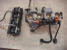 06-07 Yamaha R6R Throttle Bodies Both Fuel Rails 8 Injectors Ign., Harness #2498