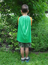 New 10 Kid's Green Super Hero Capes and Masks Party Favors Superhero