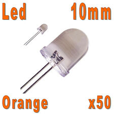 50x LED 10mm Oranges 20000mcd