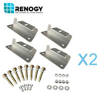 Renogy Solar Panel Mounting Z Bracket 2 Sets for 2 Panels Flat Roof Wall Kit
