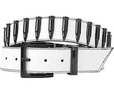 NEW WITH TAGS DESIGNER ARMOURDILLO RIDDLE IVORY BLACK BULLET LEATHER BELT