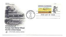 1506 Rural America  Kansas Winter Wheat + Train ArtCraft 'Use zip code' FDC