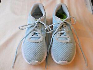 Nike Women's Tanjun Glacier Blue/White Swoosh, Sz. 10